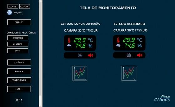 Monitoramento e Registro de Dados em Ambientes Controlados Valinhos - Monitoramento em Estudo de Estabilidade